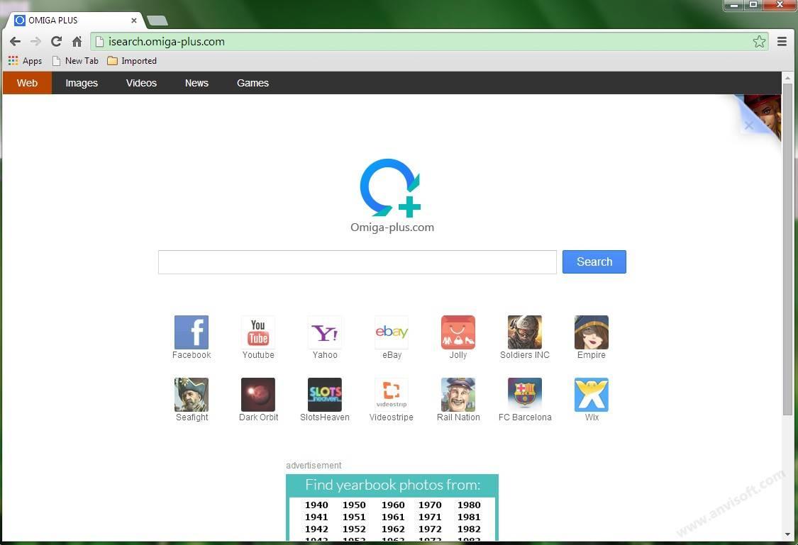 Come Rimuovere Omiga Plus dal Vostro Browser