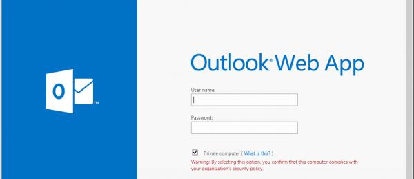 Configurazione Posta – Outlook Web Access