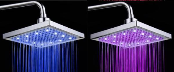 Led colorati per la vostra doccia gnius tech - Soffione della doccia ...