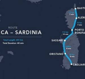 Hyperloop Bastia Cagliari in 40 minuti