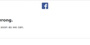 Facebookdown da qualche minuto!